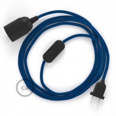 SnakeBis fixação com casquilho e cabo em tecido - Seda Artificial Azul RM12