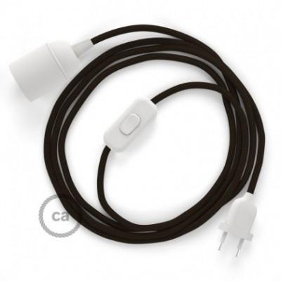 SnakeBis fixação com casquilho e cabo em tecido - Seda Artificial Castanho RM13