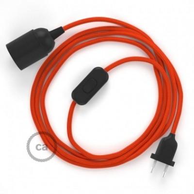 SnakeBis fixação com casquilho e cabo em tecido - Seda Artificial Laranja RM15
