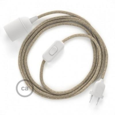SnakeBis fixação com casquilho e cabo em tecido - Linho Natural Neutro RN01