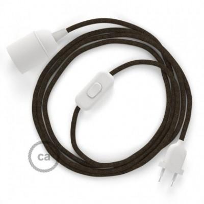 SnakeBis fixação com casquilho e cabo em tecido - Linho Natural Castanho RN04