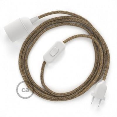 SnakeBis fixação com casquilho e cabo em tecido - Algodão e Linho Natural Castanho RS82