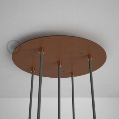 Rosácea Redonda XXL cobre acetinado, 35 cm com 5 furos + Acessórios