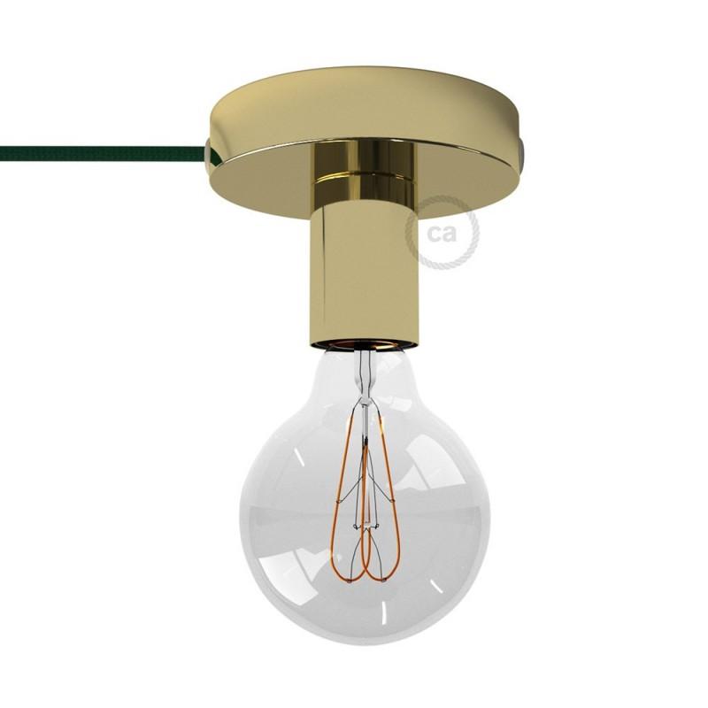 Spostaluce, a fonte de luz de metal latão com furos laterais e cabo de tecido