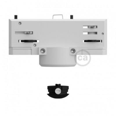 Adaptador múltiplo suspenso Eutrac branco para calhas trifásicas