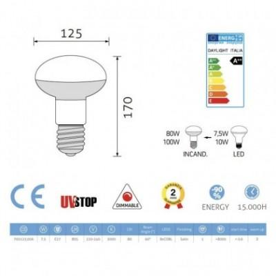 Lâmpada Led filamento R125 7.5W E27 Cintilante
