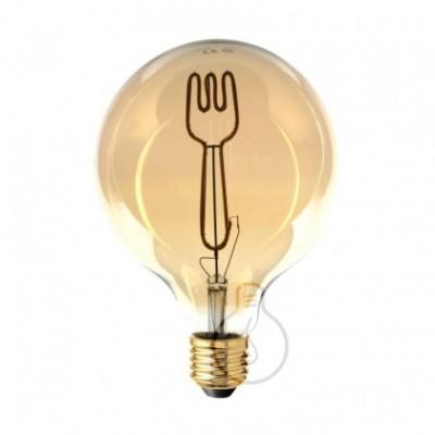 Lâmpada LED Filamento Globo G125 coleção Masterchef GARFO E27 4W 2000K Regulável