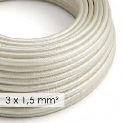 Cabo elétrico de seção grande 3x1,50 redondo - Seda artificial Ivory RM00