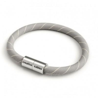 Pulseira com fecho magnético prata e cabo ERD22