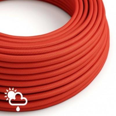 Cabo elétrico para exterior revestido em seda artificial Vermelho SM09