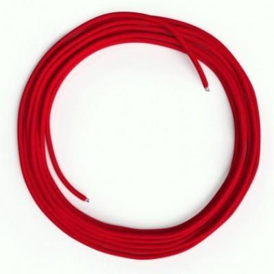 Cabo Ethernet LAN Cat 5e sem conectores RJ45 - Tecido Seda RM09 Vermelho