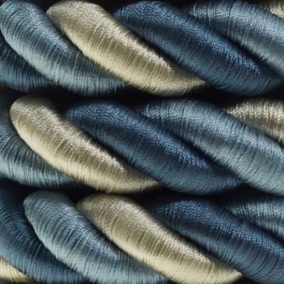 Cordão elétrico 2XL, cabo 3x0,75. Coberto por Tecido brilhante Bernadotte. Diâmetro 24 mm.