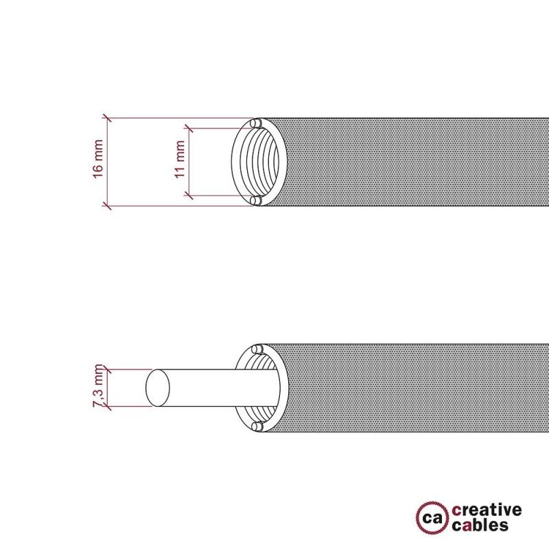 Tubo Flexivel Creative-Tube, coberto por tecido seda artificial Preto RM04, diametro 16 mm