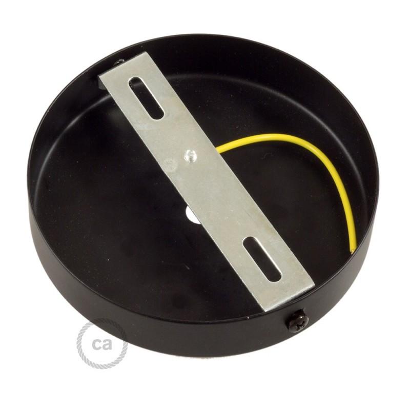 Kit de rosácea de teto cilíndrica em metal com braçadeira de cabo de 7 cm