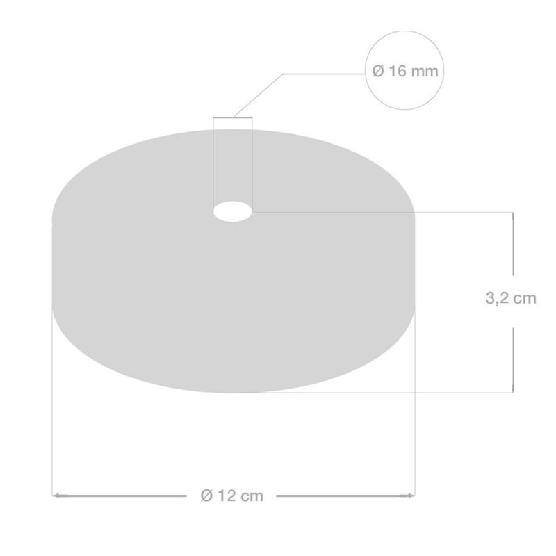 Kit de rosácea de teto em madeira para cordão XL