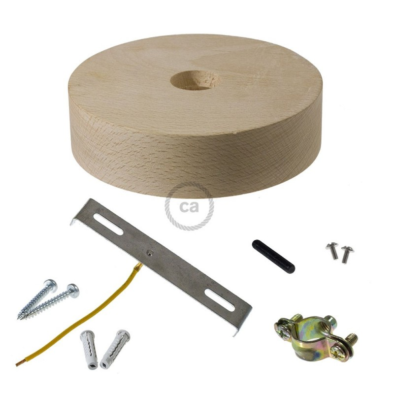 Kit de rosácea de teto em madeira para cordão 2XL