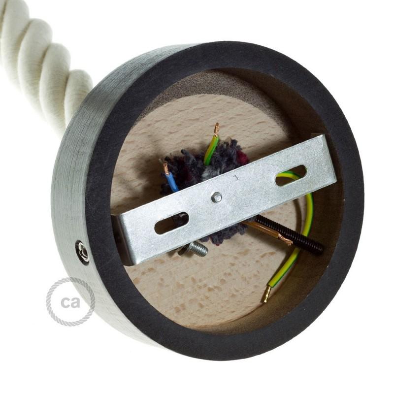 Kit de rosácea de teto em madeira para cordão 3XL