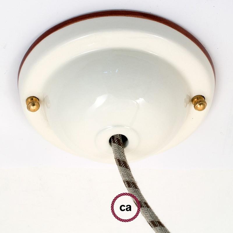 Kit de rosácea de teto Deco-48 Line em cerâmica