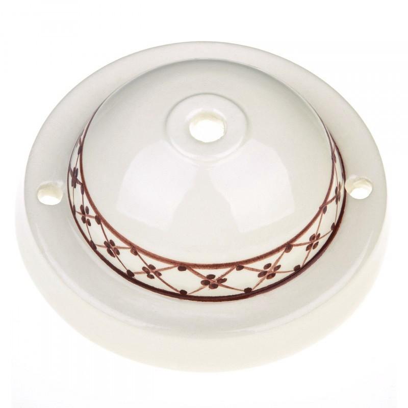 Kit de rosácea de teto Deco-82 Ivy em cerâmica