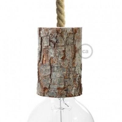 Kit de casquilho E27 de casca de árvore pequena