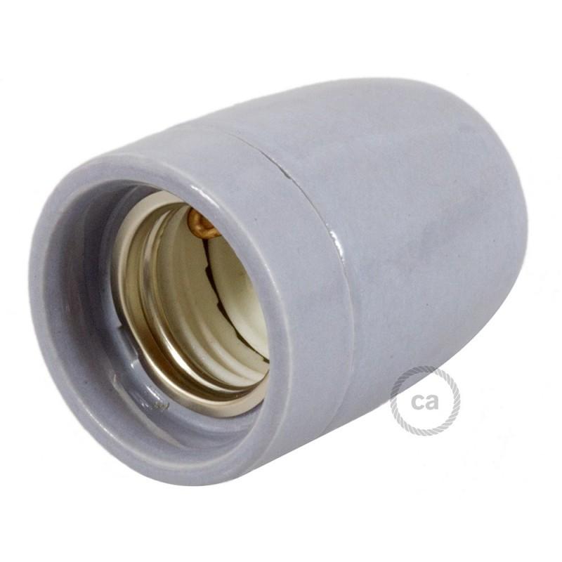 Kit de casquilho E27 em porcelana