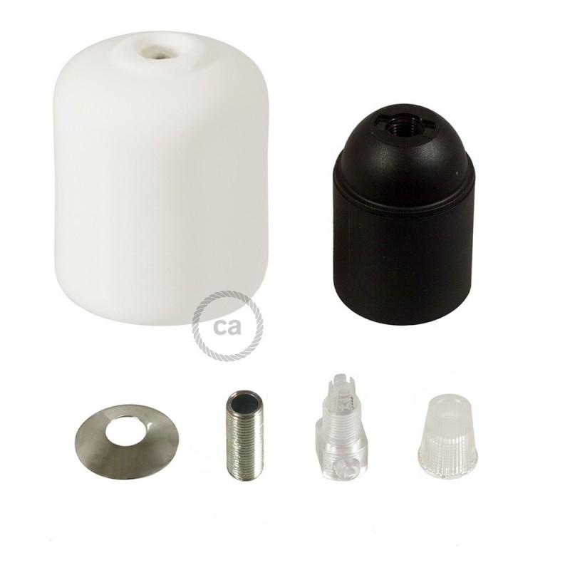 Kit de casquilho E27 em cerâmica