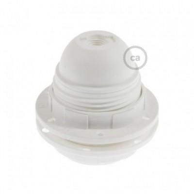 Kit de casquilho E27 termoplástico com união dupla para abajur