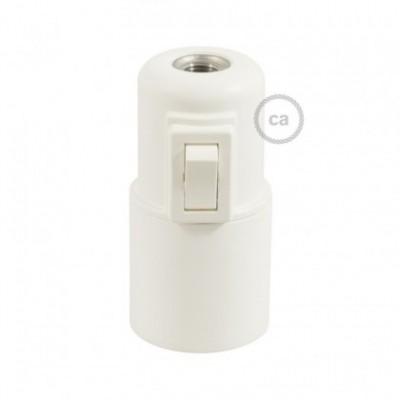 Kit de casquilho E27 termoplástico com interruptor