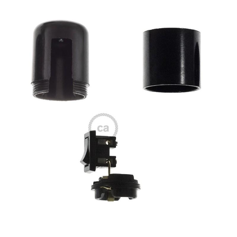 Kit de casquilho E27 em baquelite com interruptor