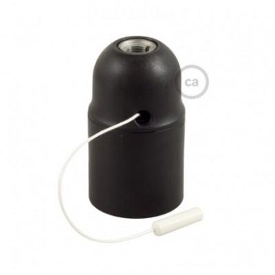 Kit de casquilho E27 termoplástico com união dupla para abajur com interruptor de cordão