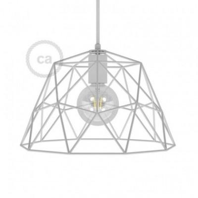 Abajur em metal de grade descoberta Dome XL com casquilho E27