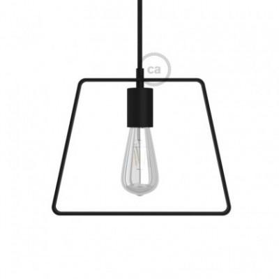 Abajur Duedì Base em metal com tampa de casquilho em metal e suporte para lâmpada E27
