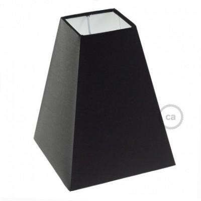 Abajur em tecido Squared Pyramid com encaixe E27, 16x16 cm A20 cm - 100% Fabricado em Itália