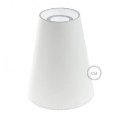 Abajur em tecido Truncated Cone com encaixe E27, 16 cm de diâmetro A20 cm - 100% Fabricado em Itália