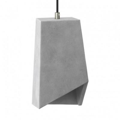 Abajur de cimento Prisma para suspensão, com braçadeira de cabo e casquilho E27
