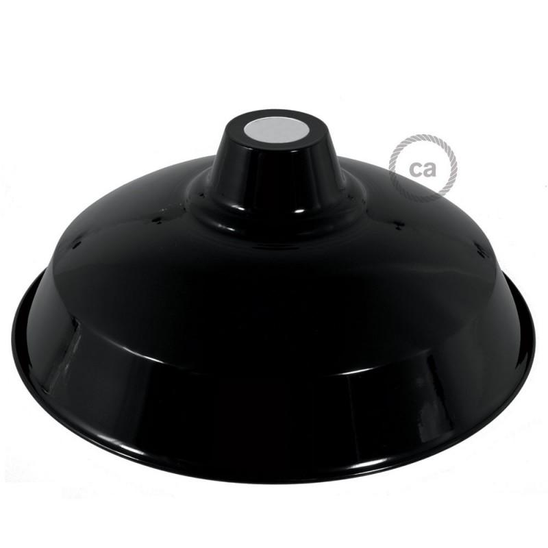 Abajur Bistrot em metal polido com encaixe E27, 38 cm de diâmetro