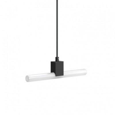 Suspensão com cabo têxtil, casquilho Syntax® S14d e detalhes em metal - Fabricado em Itália