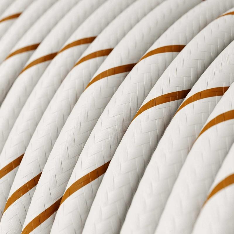 Suspensão com cabo têxtil e casquilho de alumínio moído - Fabricado em Itália