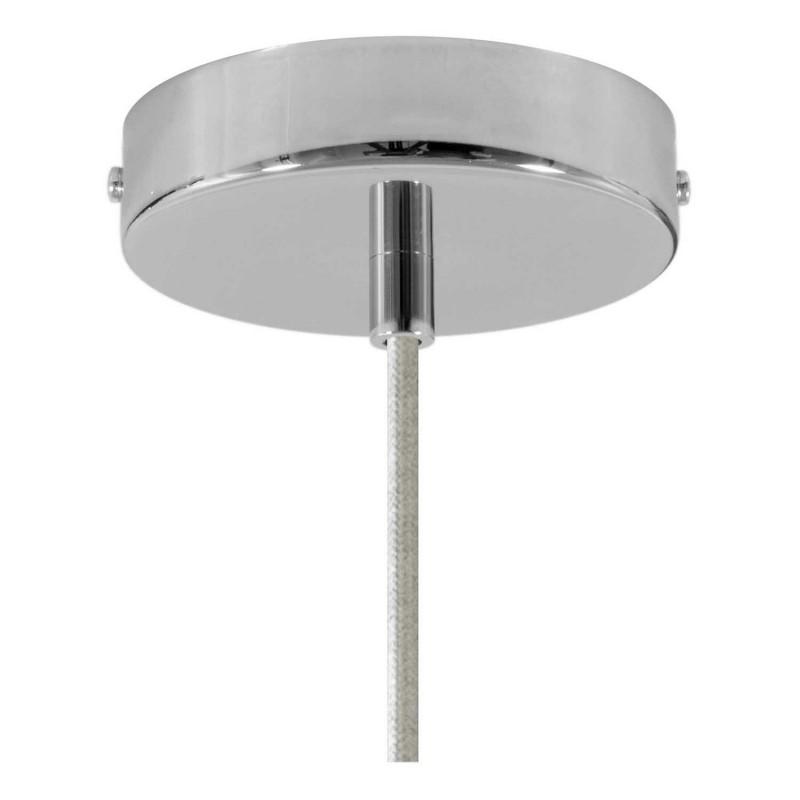 Candeeiro suspenso com cabo têxtil, abajur Bistrot e detalhes em metal - Fabricado em Itália