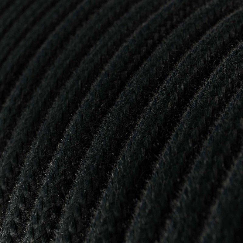 Candeeiro suspenso com cabo têxtil, abajur Broadway e detalhes em metal - Fabricado em Itália
