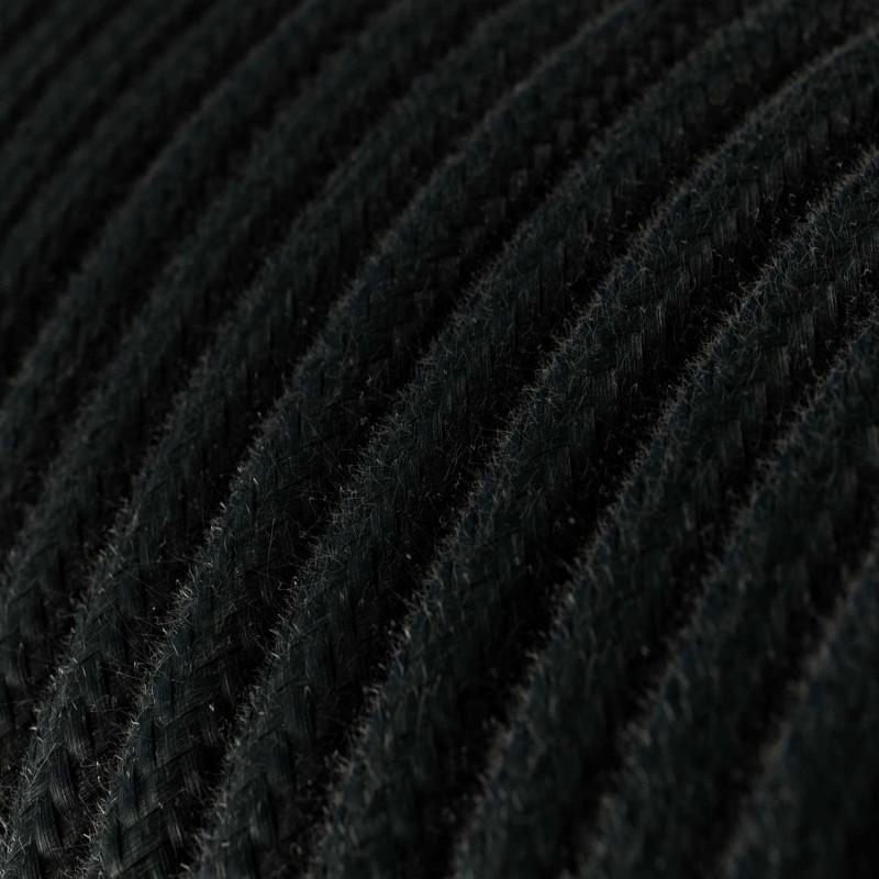 Candeeiro suspenso com cabo têxtil, abajur Apollo e detalhes em metal - Fabricado em Itália