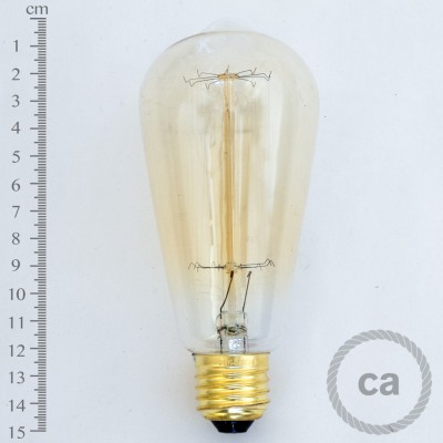 Lâmpada Marconi Estilo Edison 40W, Filamento Armação Rotativa