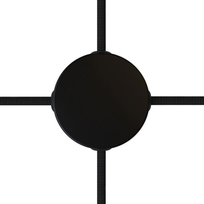 Kit de rosácea de teto Mini cilíndrica em metal com 4 furos laterais (caixa de derivação)