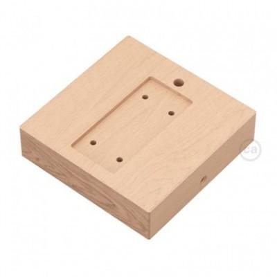 Base quadrada para Archet(To) em madeira
