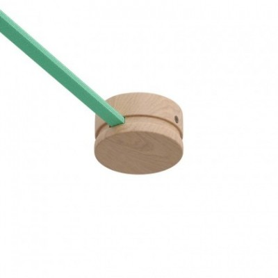 Kit de rosácea de madeira para cordão de luzes e sistema Filé. Fabricado em Itália
