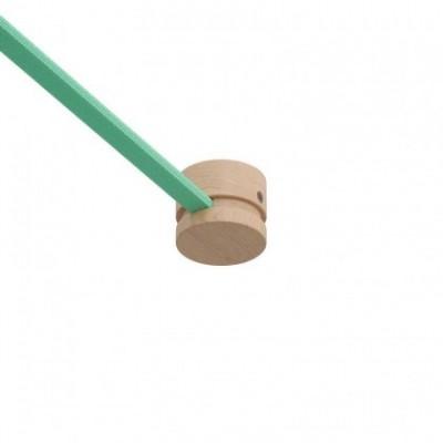 Kit de bloco terminal de madeira para cordão de luzes e sistema Filé. Fabricado em Itália