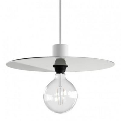 Abajur plano Ellepì extragrande em Dibond para iluminação suspensa exterior, diâmetro de 40 cm - fabricado em Itália