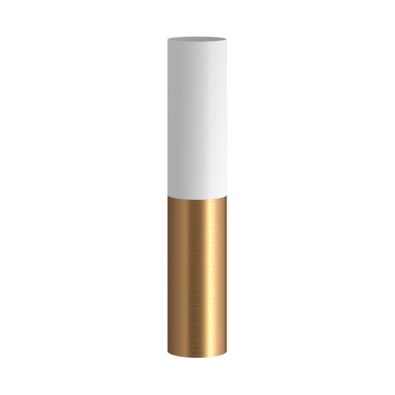 Tub-E14, tubo duplo de metal com projetor, com anel duplo de casquilho E-14