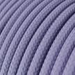 Cabo elétrico redondo com seda artificial aplicada cor de tecido sólida RM07 Lilás