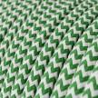 Cabo elétrico redondo revestido por tecido de seda artificial ZigZag RZ06 Verde